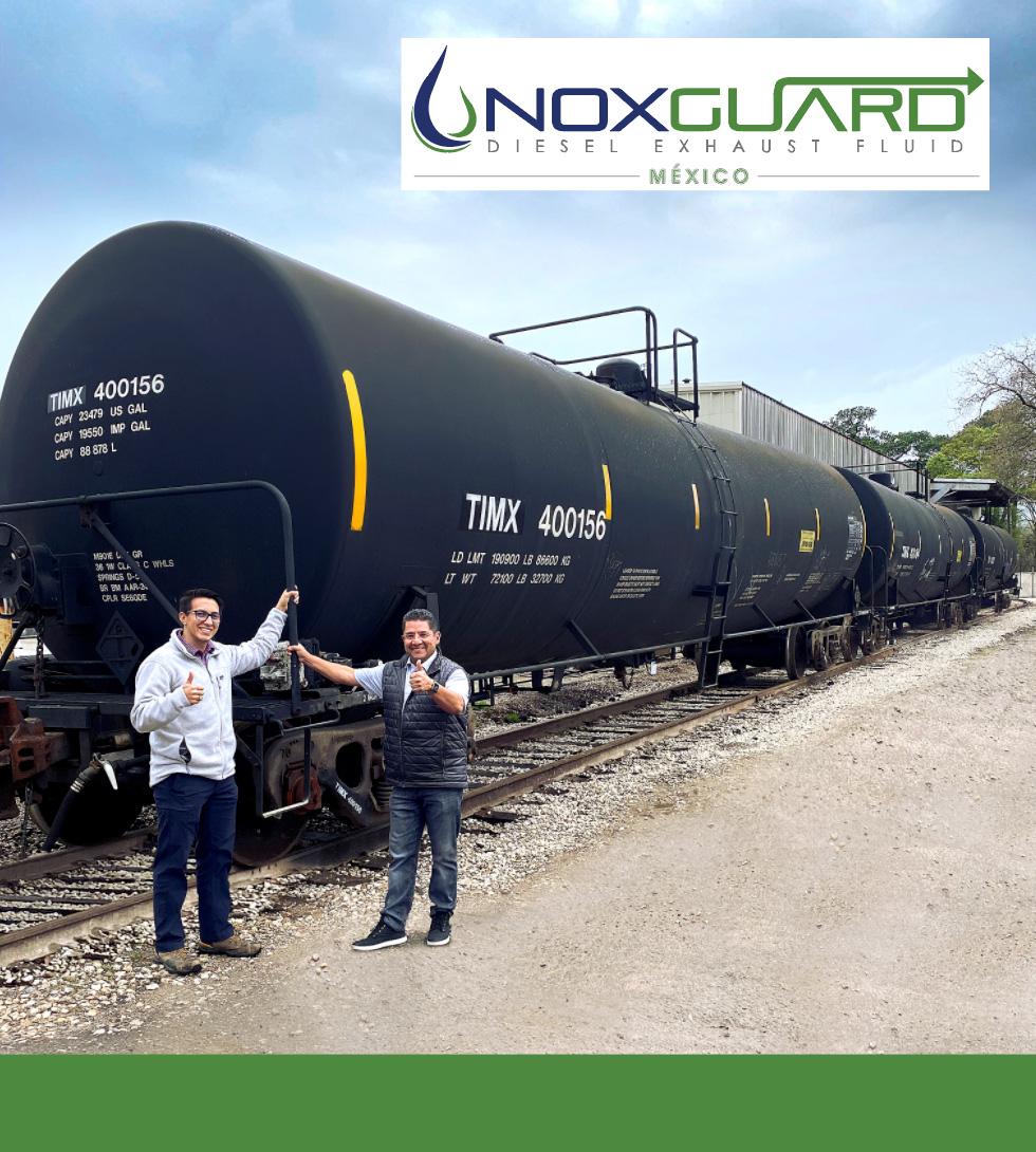 Noxguard México y TLT adicionan 10 carros tanque a su flotilla.